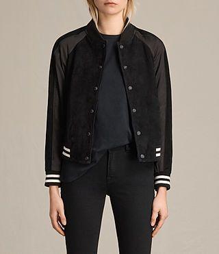 ALLSAINTS Gresley Suede Bomber Jacket. #allsaints #cloth #