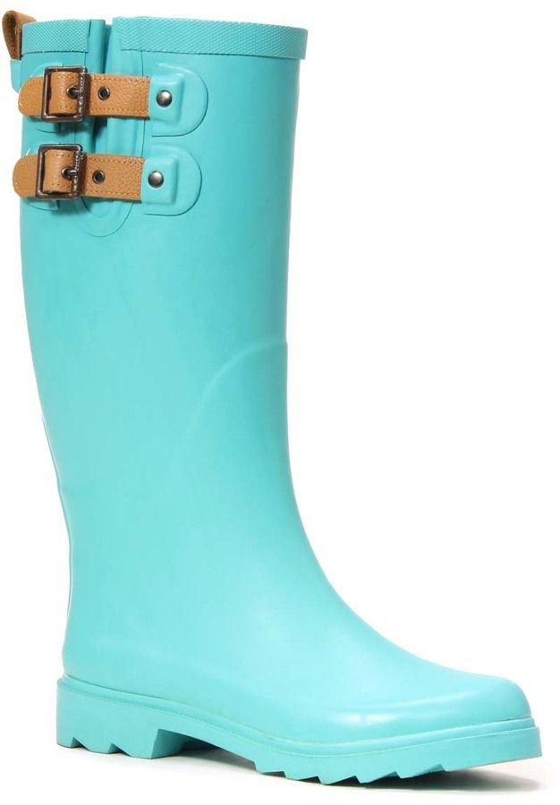 Turquoise Double Buckle Chooka Boot