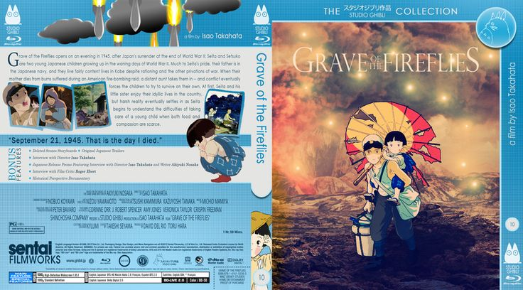 Grave Of The Fireflies Blu Ray Custom Cover Grave Of The