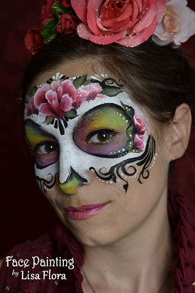halloween sugar skull dia de los muertos face painting san francisco  bay area face painters