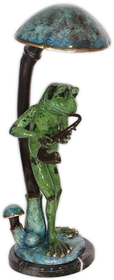 Musical Frog with Saxophone Figurine Sculpture Statue-Home Décor-Decorations-Music Related Gifts-Available for Sale at AllSculptures.com