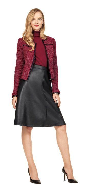 レザーを着こなして大人っぽく。素敵な40代の着こなし術♡アラフォー 台形スカートコーデを集めました!