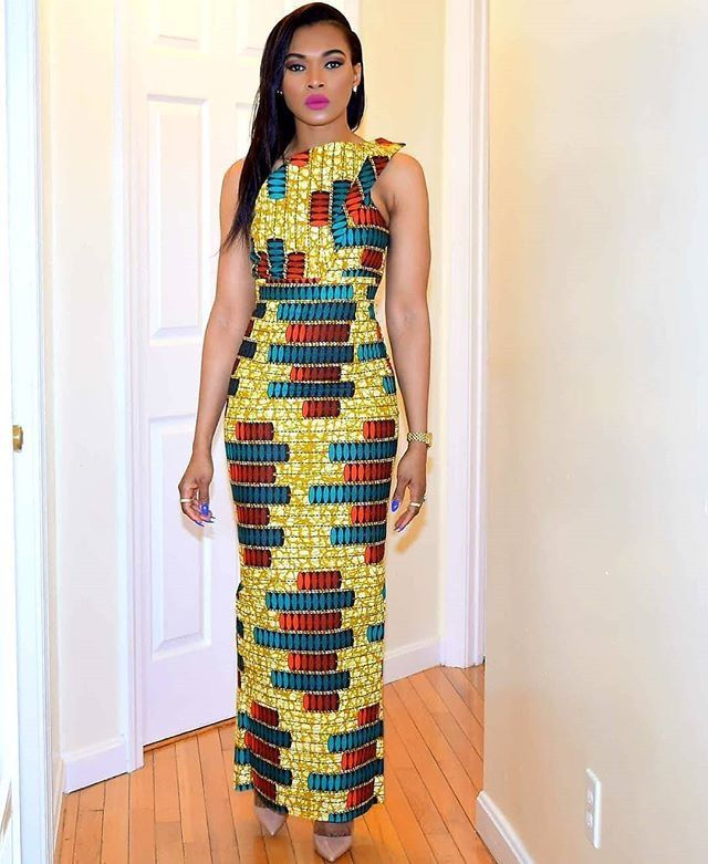 simple but beautiful ankara pattern with ankara gown style #ankarastyles