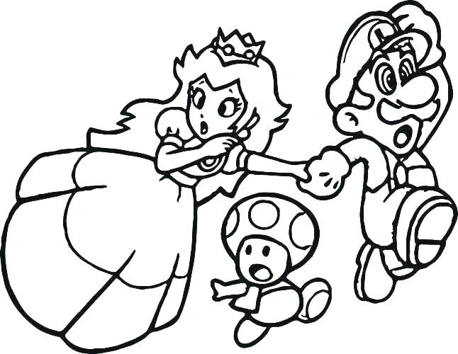 Super Mario Coloring Page Awesome