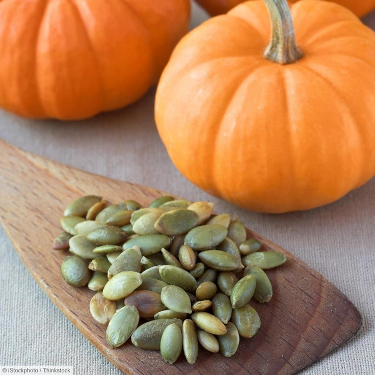 Pumpkin seeds are high in zinc, which is good for the prostate (for men) and building the immune system. An excellent source of Magnesium, pumpkin seeds contain essential fatty acids and beneficial proteins. (For maximum nutritional benefits, seeds should be eaten raw).