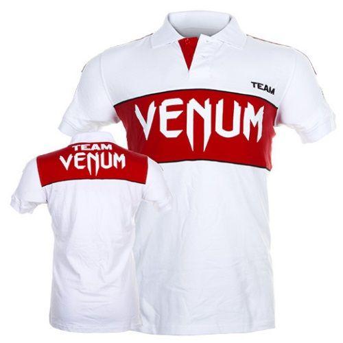 Polo VENUM TEAM - ICE/RED  Questa Polo VENUM di colore bianco a maniche corte traspirante è realizzata in cotone resistente e  confortevole.