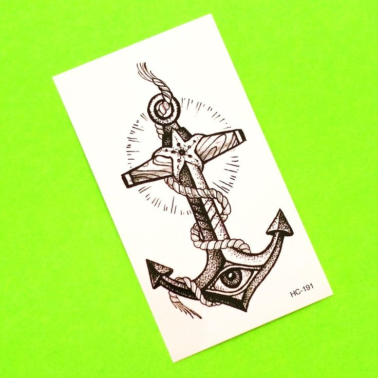 All Seeing Anchor Temporary Tattoo