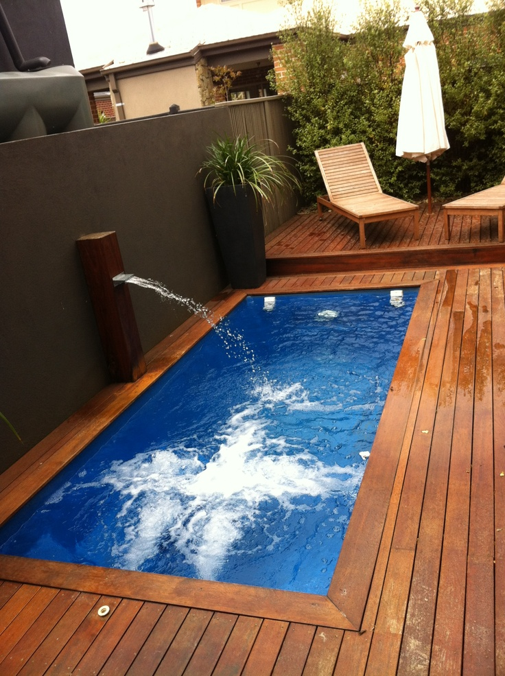 Gorgeous pool/spa with decking