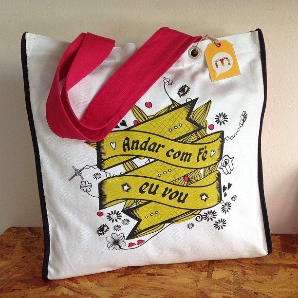 """#bag #Bolsa """"Andar com Fé eu Vou"""""""
