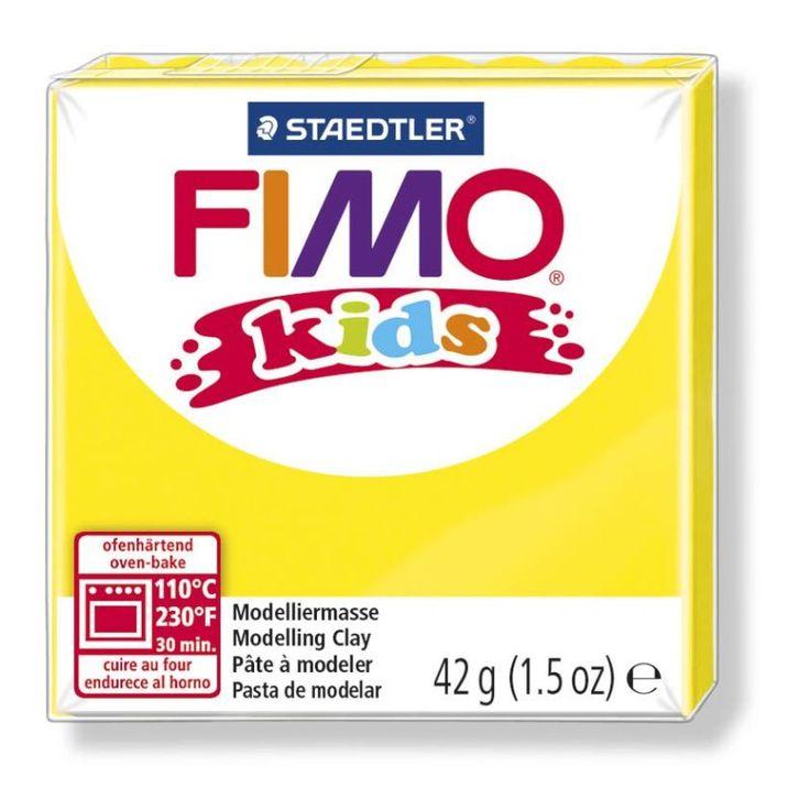 FIMO kids - новый вид полимерной глины для детей. Мягкая, яркая и приятная на ощупь, она привлекает детей. Можно сразу приступить к лепке без предварительного размягчения. Разминание и лепка помогают детям развить свои творческие способности и безграничное воображение. FIMO kidsстандартный блок 42 г