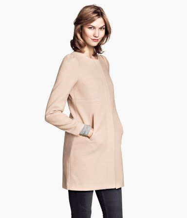 Textured woven coat in powder pink / $59.95 / H&M US