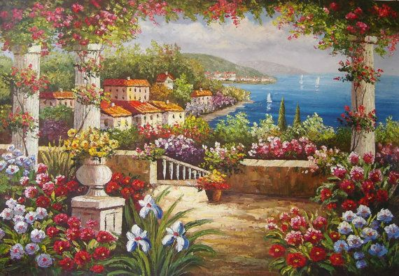 Hey, I found this really awesome Etsy listing at https://www.etsy.com/listing/465992521/huge-mediterranean-knife-oil-painting