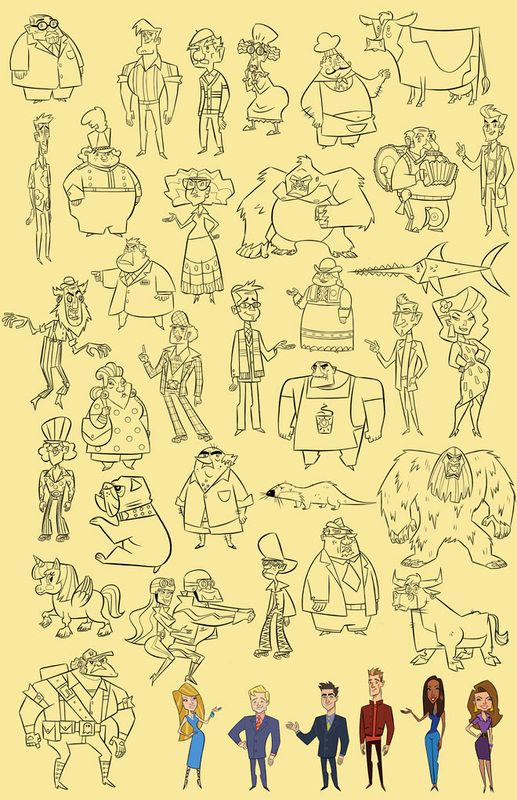 Character Design With Stephen Silver : Stephen silver character design page animation