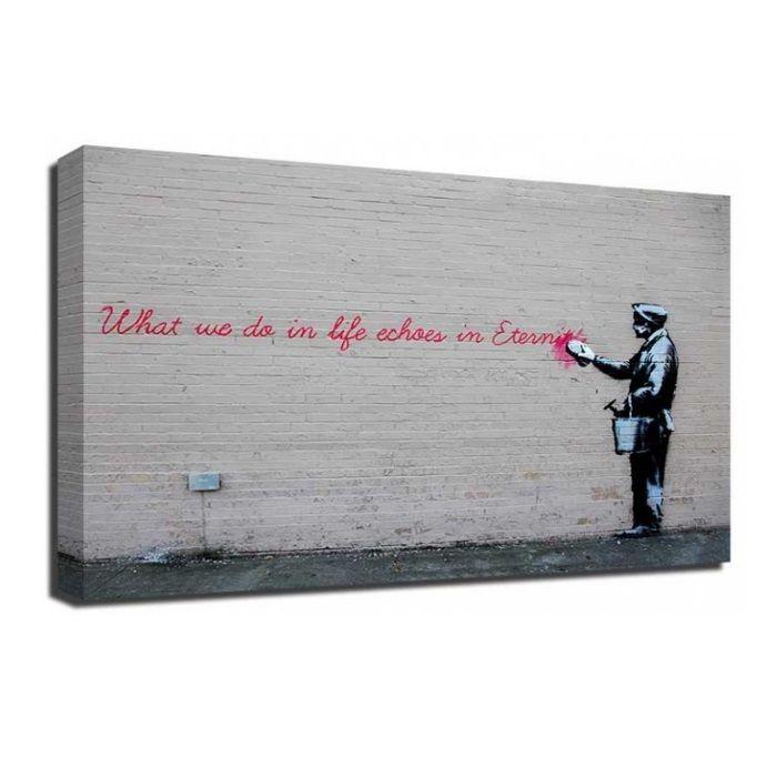 The Banksy Shop - Banksy Canvas Print - Echoes In Eternity, £34.95 (http://www.thebanksyshop.co.uk/banksy-canvas-print-echoes-in-eternity/)