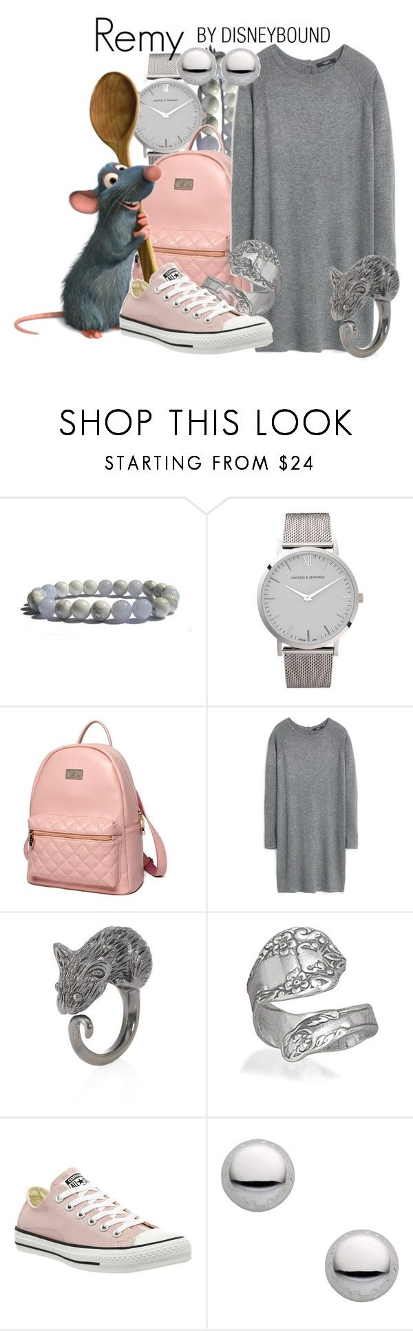 """""""Remy"""" by leslieakay ❤ liked on Polyvore featuring Larsson & Jennings, Princess Carousel, Disney, MANGO, Marc by Marc Jacobs, Bling Jewelry, Converse, disney, disneybound and disneycharacter"""