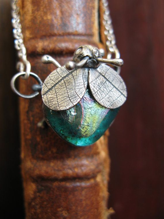 Handcrafted Unique Solid Silver and Dichroic Glass Bug Pendant - Turquoise Winged Bug on Sterling Silver Chain - Fully UK Hallmarked on Etsy, $88.98