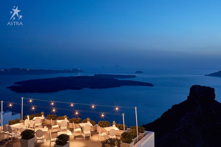 After the sun sets on the caldera, the magic continues at Astra restaurant..!