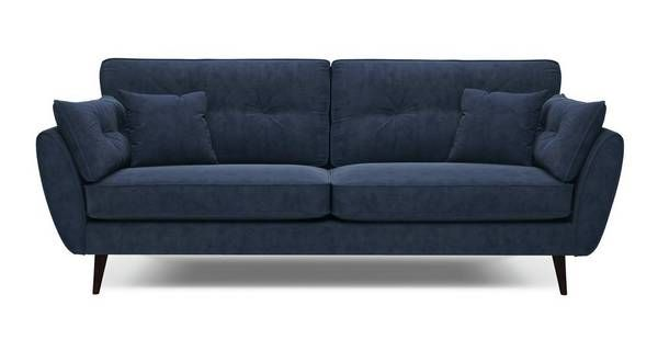 Zinc 4 Seater And 2 Seater In Charcoal Charcoal Sofa Living Room Corner Sofa Living Room Small Living Rooms