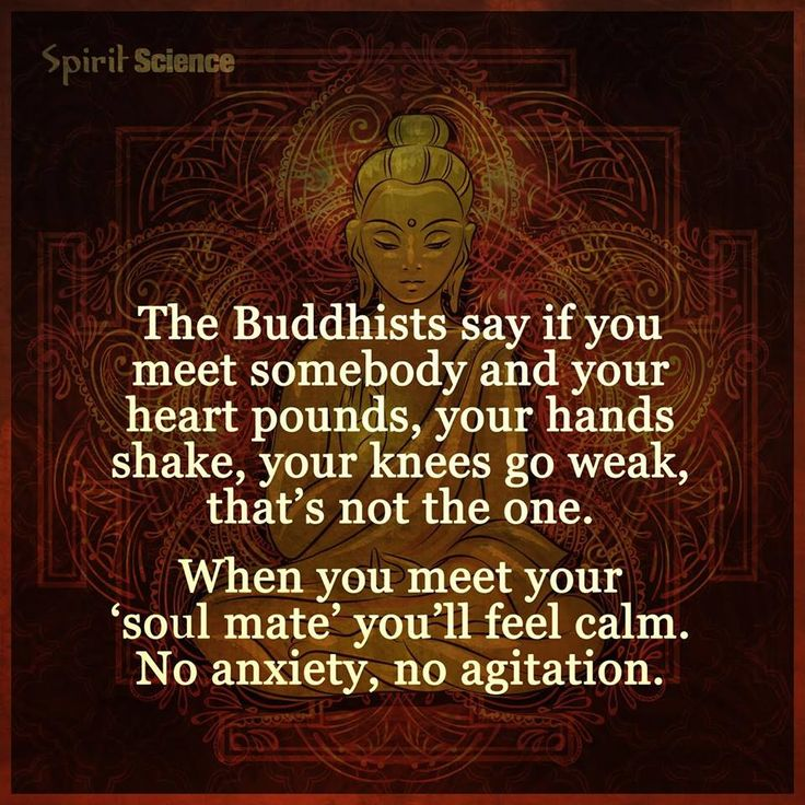 when you meet your soulmate youll feel calm