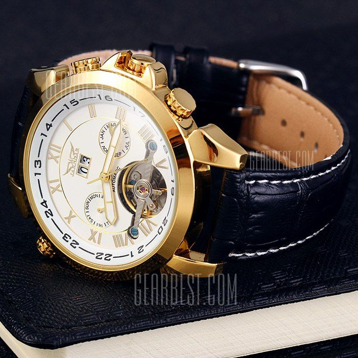 Jaragar H057M Genuine Leather Band Men Automatic Mechanical Watch-31.49 and Free Shipping   GearBest.com Mobile