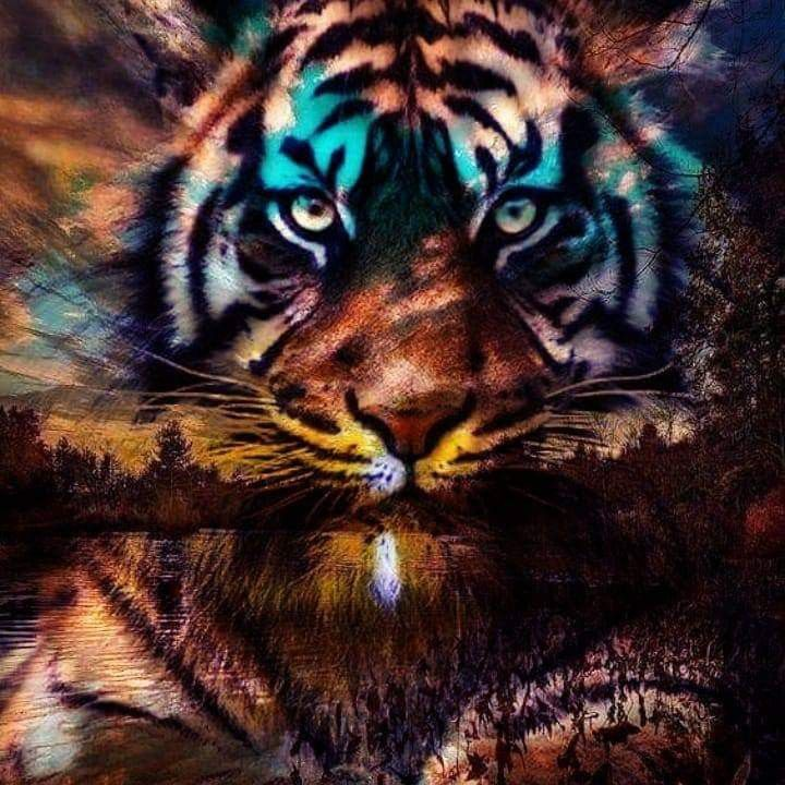 Pin By James Hill On Tiger Painting Tiger Painting Animals Animals And Pets