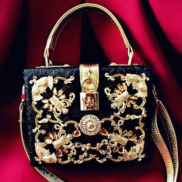 Luxe hoge kwaliteit diamant gesneden hollow lock retro fashion design mini flap…