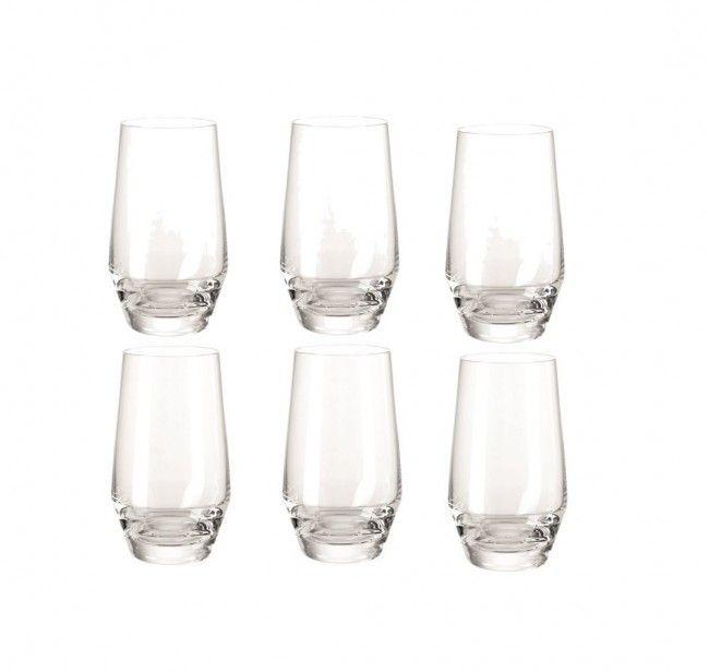 Set of Six Leonardo Puccini Tall Tumbler/Hi Ball Glass Transparent 365ml