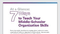 Graphic of 7 Ways to Teach Your Middle-Schooler Organization Skills