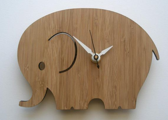 wooden elephant clock- something for Grandpa H. to make for Baby B! :)