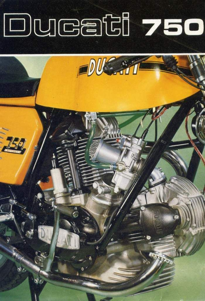 The 1974 My Ducati 750 Sport Has Standard Fittings Such As
