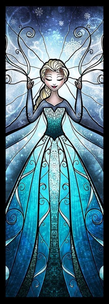I think that this is so pretty. I now want to have one of each princess/queen - (Elsa) in my house.