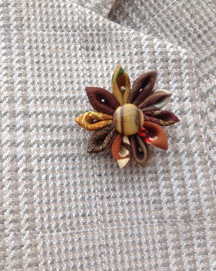 Custom Lapel Pins Men Brown Lapel Flower Mens Lapel Pin Flower Lapel Pin Silk Boutonniere Kanzashi Brooch Dad Gift For Him Fathers Day Gift by exquisitelapel on Etsy https://www.etsy.com/listing/465319681/custom-lapel-pins-men-brown-lapel-flower