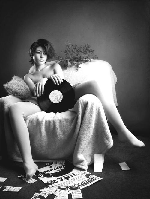 Business. Vintage vinyl record