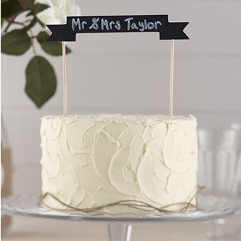 Chalkboard Cake bunting  vintage affair AF 634 £7.99