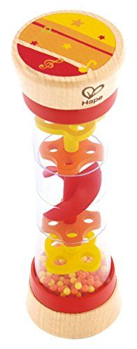 Hape Beaded Raindrops Rainmaker Toddler Musical Toy in Red * Read more reviews of the product by visiting the link on the image.