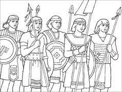 2000 stripling warriors coloring pages | 45 best images about church - B of M - Helaman on Pinterest