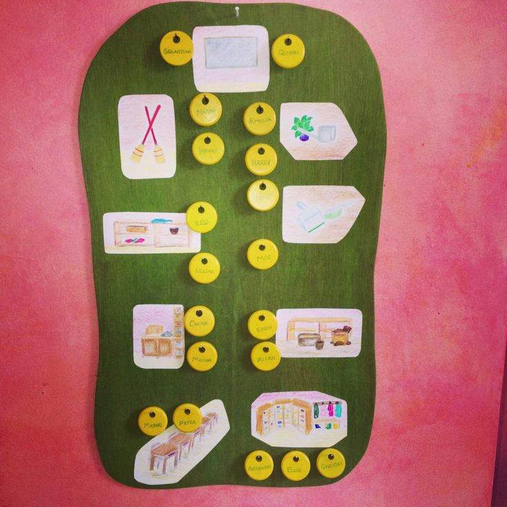 First grade responsibility chart at The Waldorf School of Philadelphia
