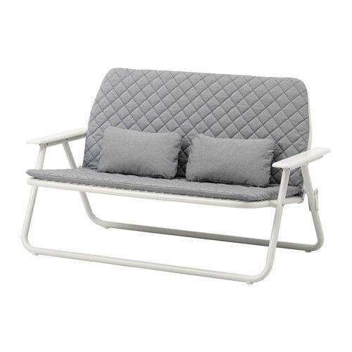 IKEA - IKEA PS 2017, 2-seters sofa, God å sitte i, og like pen når du reiser deg som da du satte deg, fordi putene har trykknapper for å holde dem på plass.Enkel å klappe sammen og sette bort for å frigjøre plass.