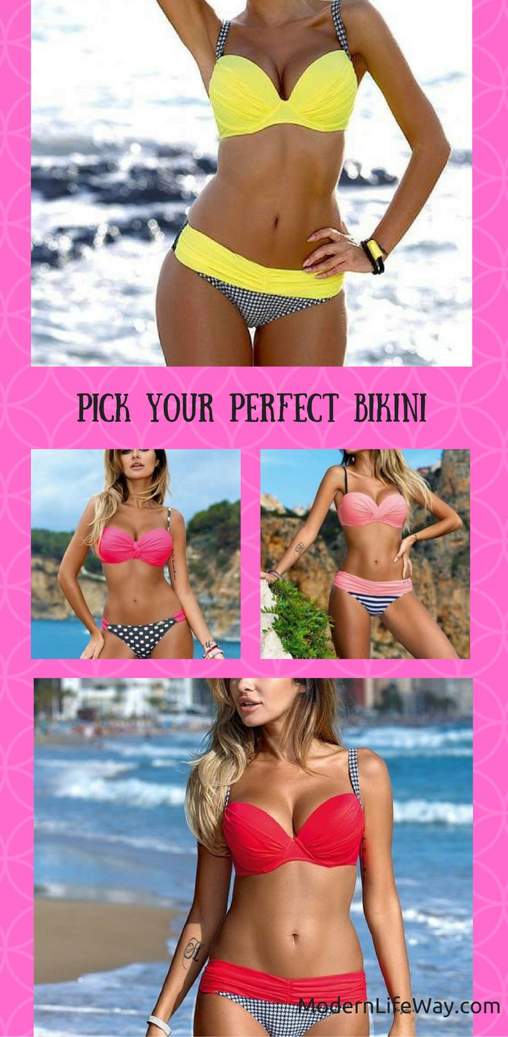 Perfect low waist, push-up bikini. Variety of colors and sizes available. Pick yours before they're gone!