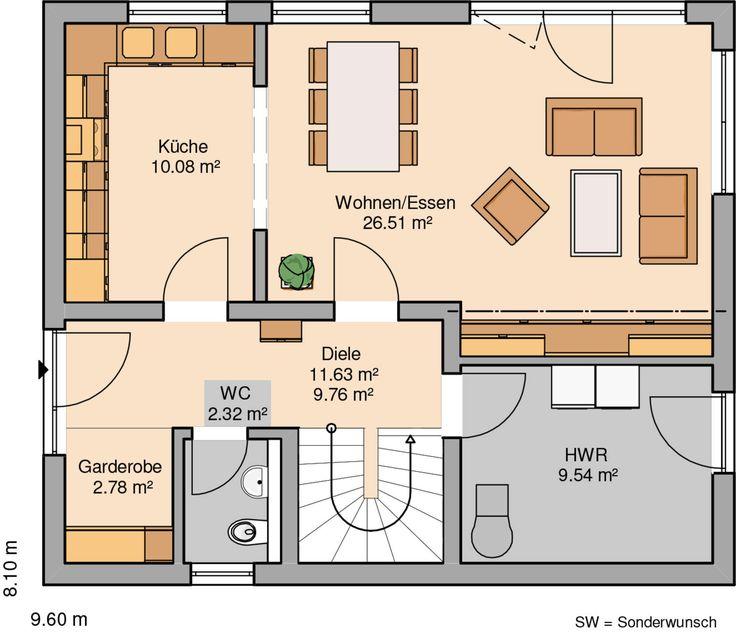Moderne häuser satteldach grundriss  Die besten 25+ Dachneigung Ideen auf Pinterest | Dachstuhl Design ...
