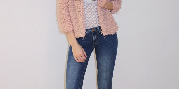 Own Jeans Collection with Frou-Frou Jacket and modern Top