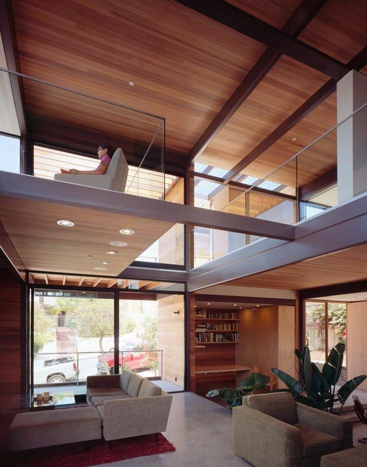 Inside the first LivingHome built in Santa Monica. Design by Ray Kappe, FAIA. | zero-energy - platinum LEED