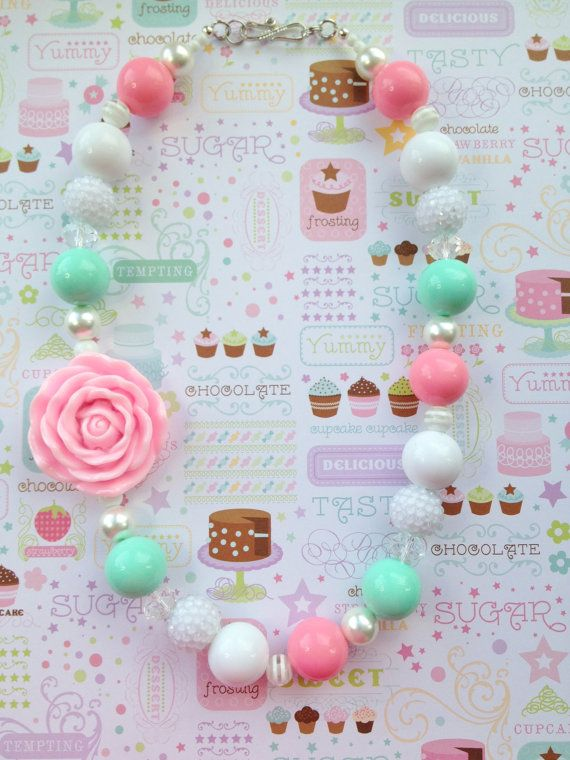 Little+Girl's+Chunky+Necklace+Bubble+Gum+Beads+by+IcyCoolCreations,+$23.00