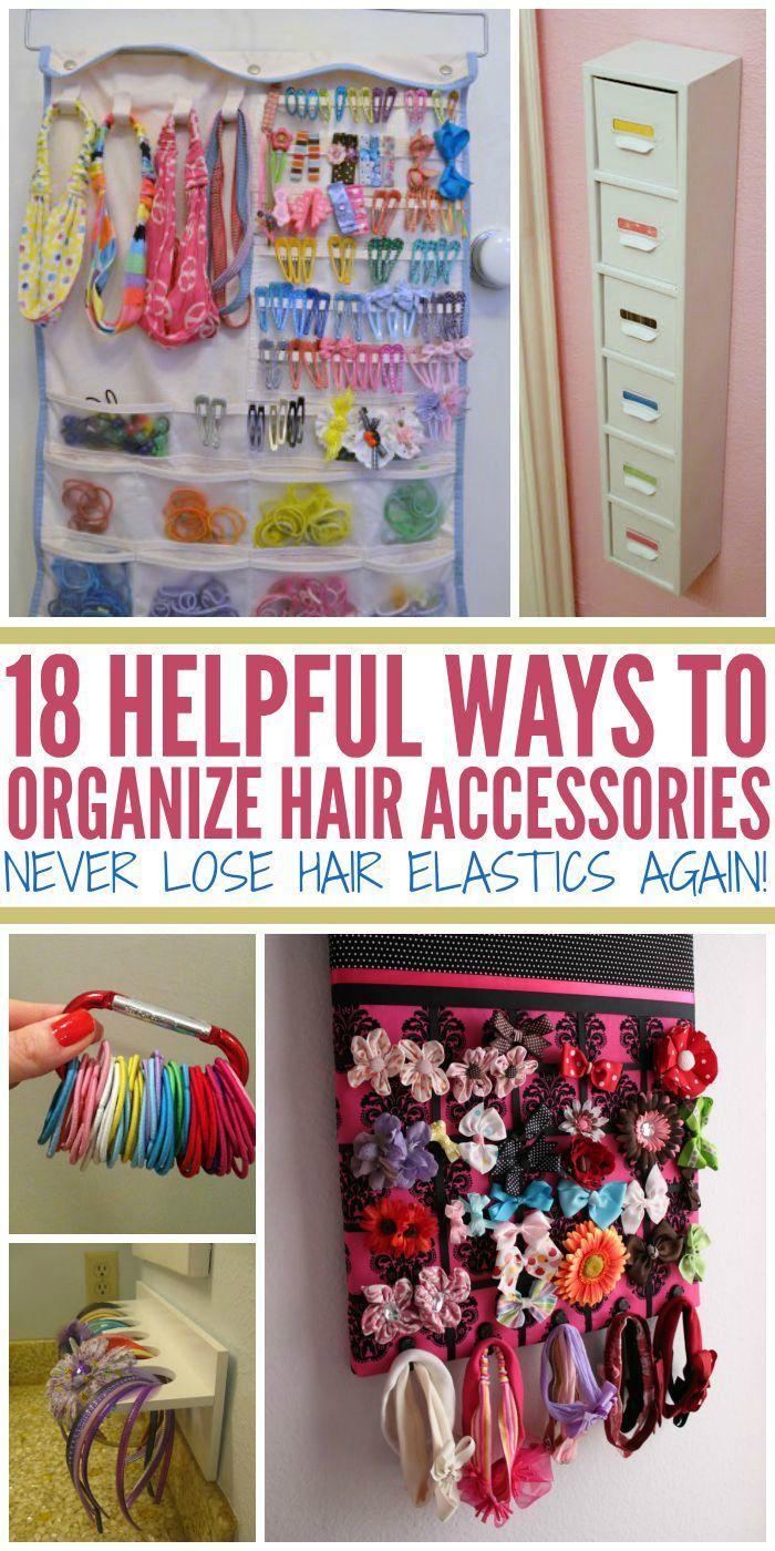 How To Organize Hair Accessories {Never Lose Hair Elastics Again!}