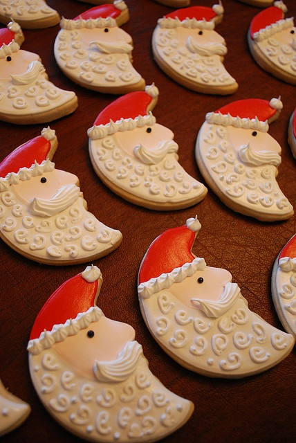 santa moon cookies