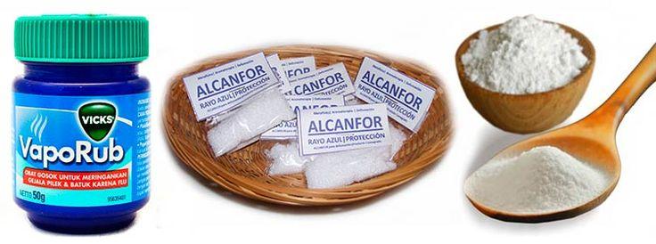 Vicks VapoRub, Bicarbonato De Sodio, Alcanfor y Alcohol