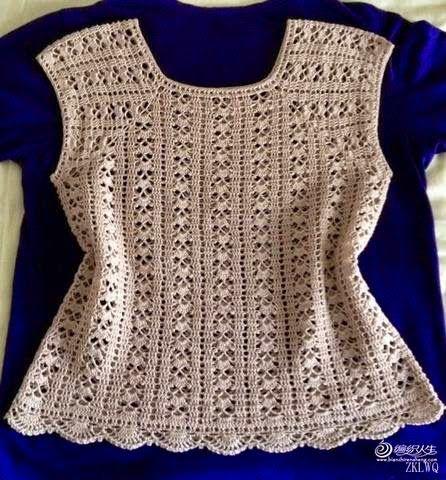 Crochet Knitting Handicraft: Vest ❤️LCT-MRS❤️ with diagrams.