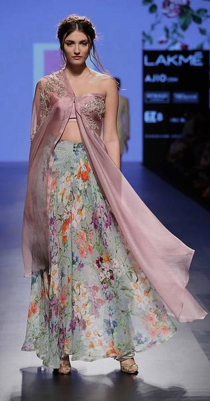 Lakme Fashion Week Summer, Resort 2017 via @sunjayjk #Anushree_Reddy unveiled her 'An Indian Summer' wedding trousseau line using natural fabrics like sheer mulmul and airy cottons. The ensembles used handmade badla work and pleating details, and the colour palette included corals, lime green, aqua, salmon, rose gold, lilac, ivory and vibrant tangerines and soft pastels.