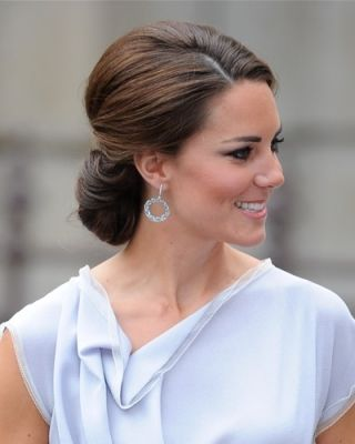 Hairstyle to remember for future bridesmaid hair... Kate's hair looks amazing styled this way. No matter what - she always looks beautiful.