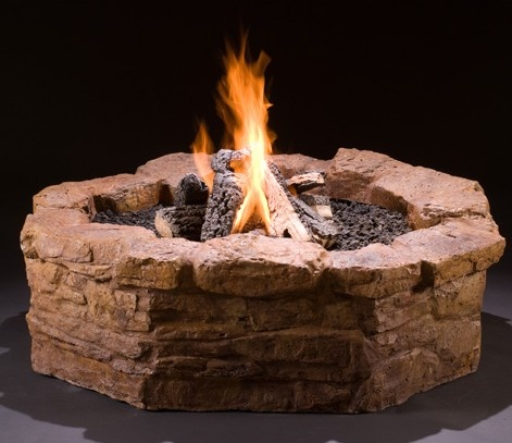 Get It All In This Diy Gas Fire Pit Kit Surround Valve